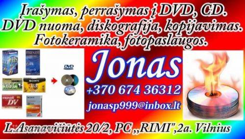 Perrašymas ir įrašymas i DVD, CD