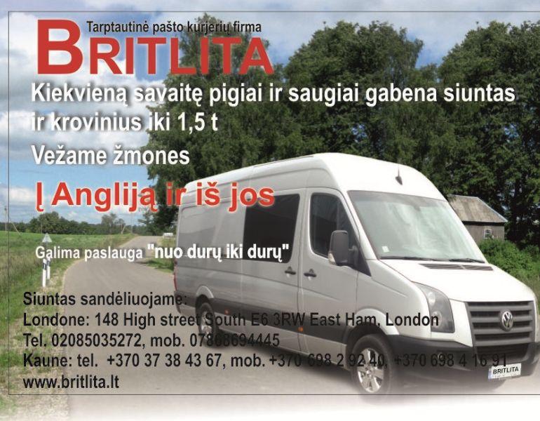 Siuntinių keleivių vežimas Lietuva-anglija-Lietuva