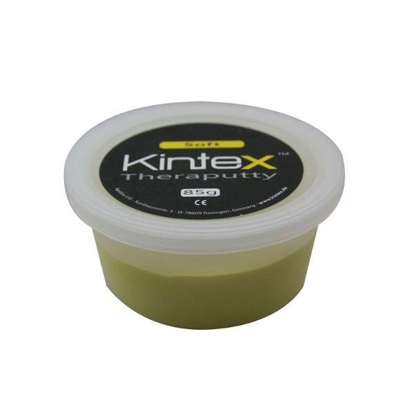 Ergoterapinė masė Kintex, geltona. Svoris : 85 g. Spalva : Geltona – minkšta