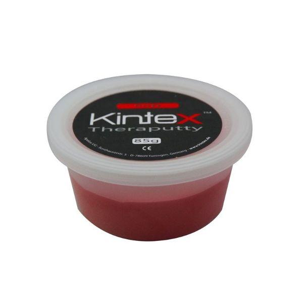 Ergoterapinė masė Kintex, raudona. Svoris : 85 g. Spalva : Raudona – vidutinio kietumo