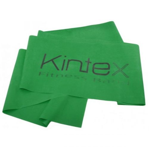 Juosta mankštai Kintex, žalia, 1,8m. Dydis : 180 cm x 15 cm x 0,25 mm Stiprumas : Vidutinio stiprumo
