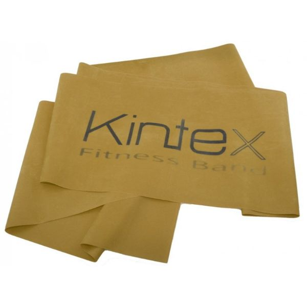 Juosta mankštai Kintex, auksinė, 1,8m. Dydis : 180 cm x 15 cm x 0,64 mm Stiprumas : Stipriausia (0,64 mm)