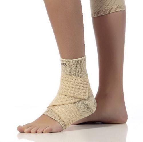 Elastinis čiurnos įtvaras su silikoniniu paminkštinimu  (Teyder 250, 251 Gold)  251 – Kairės kojos, 250 – Dešinės kojos