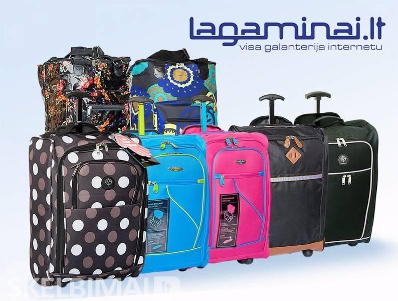 Platus lagaminų, krepšių su ratukais pasirinkimas