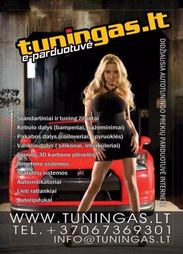 Elektroninė autosporto/tuningo parduotuvė www.tuningas.lt