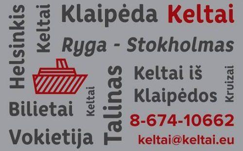 Keltų bilietai Baltijos Jūroje ir ne tik