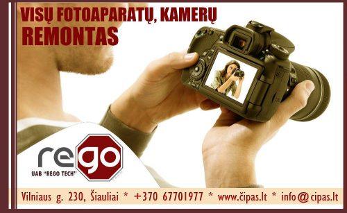 VISAPUSIŠKAS FOTO/VAIZDO kameru  remontas