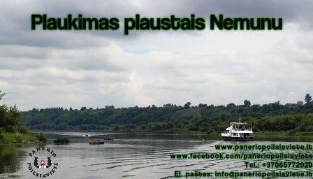 Plaustų nuoma Kaune, plaukimas Nemunu