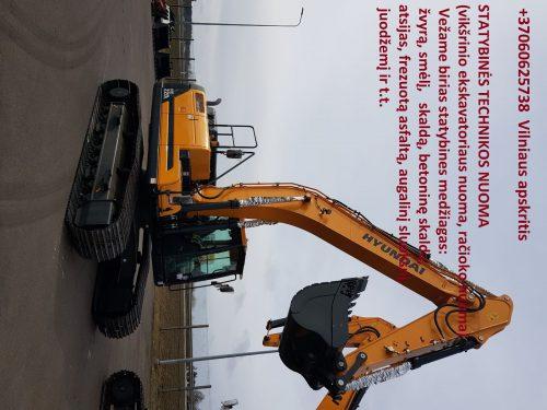 Ratinio ekskavatoriaus krautuvo nuoma, racioko nuoma, traktoriaus nuoma 860625738 Vilnius