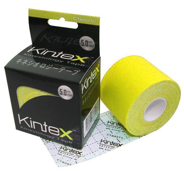 Kineziologinis teipas Kintex Classic 5cm x 5m. Spalva : Geltona