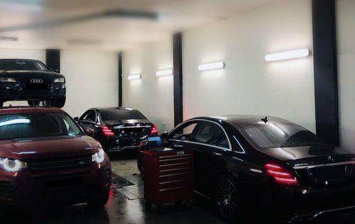 Automobilių europinimas, visi elektronikos darbai.