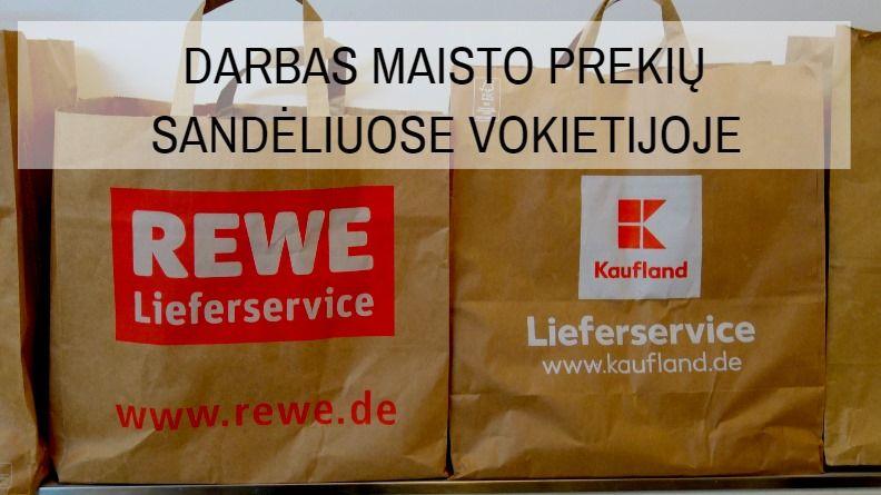 Darbas krovėjams Vokietijoje maisto produktų sandėliuose Arnstadt mieste.
