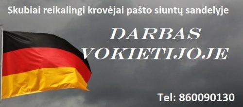 Darbas Vokietijoje ❗️Greitas išvykimas, Be amžiaus apribojimų❗️