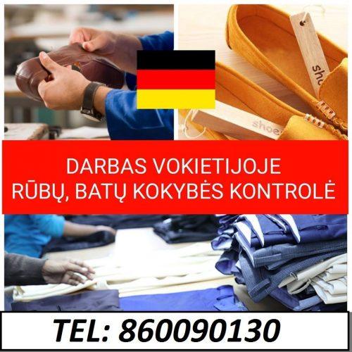 Darbas Vokietijos rūbų, avalynės ir aksesuarų sandėlyje.