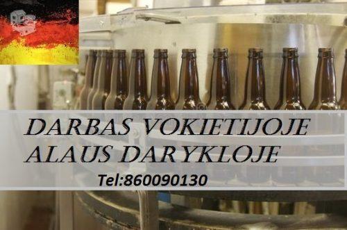 Darbas alaus darykloje Vokietijoje